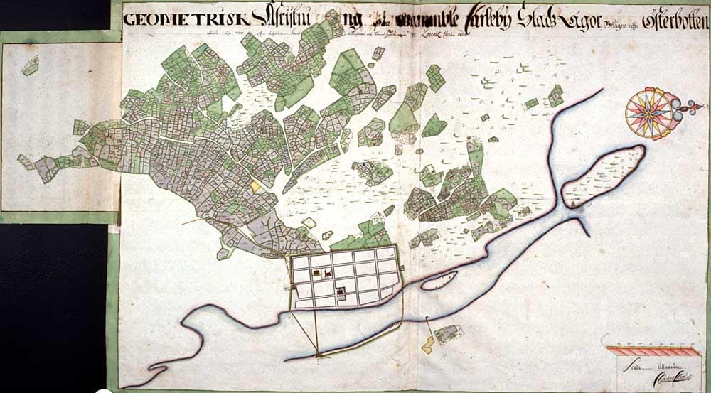 Kokkolan Kartta 1710